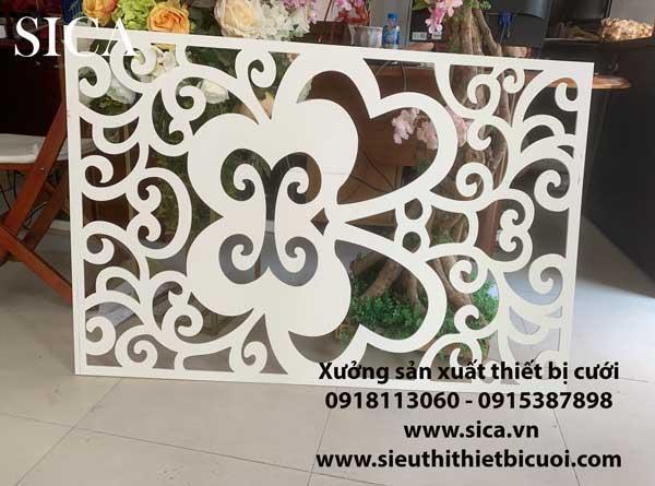 Cho thuê hàng rào CNC trang trí đám cưới