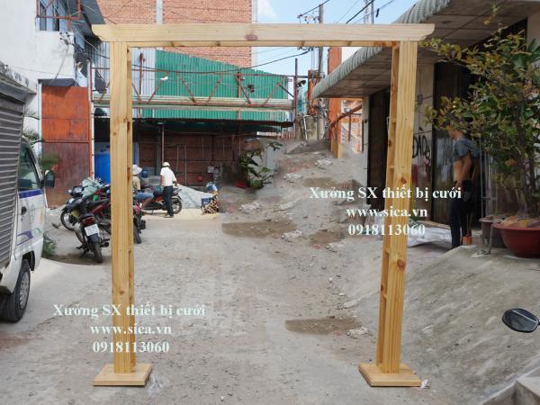 Cho thuê khung cổng cưới gỗ tự nhiên