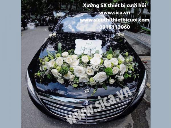 Bán hoa giả trang trí xe hoa