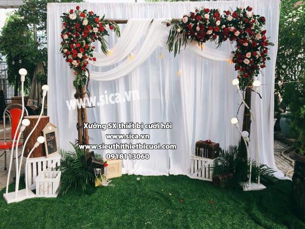 Backdground chụp hình đám cưới mới sang trọng