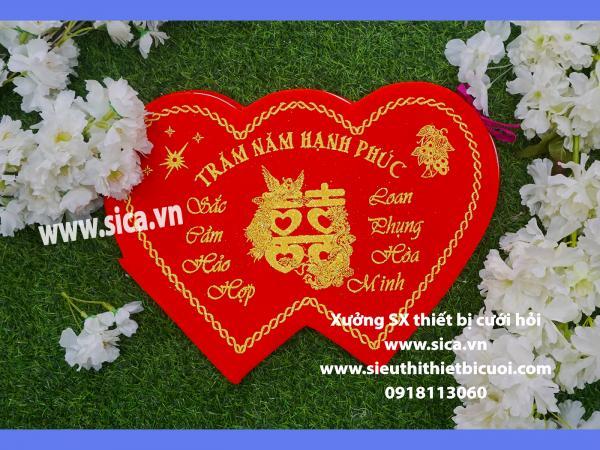 Sổ ký tên hình trái tim đẹp cho đám cưới