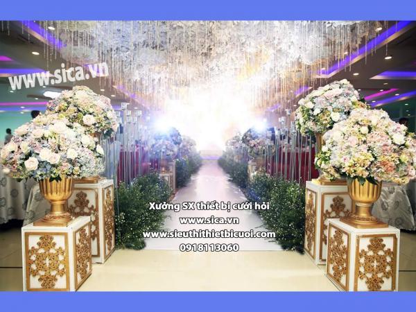 Trang trí sân khấu cưới nghệ thuật đẹp