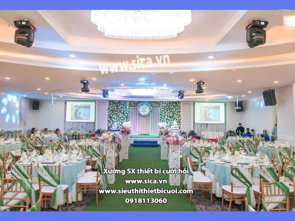 Trang trí không gian tiệc cưới mới