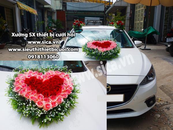 Cung cấp hoa đẹp trang trí xe rước dâu