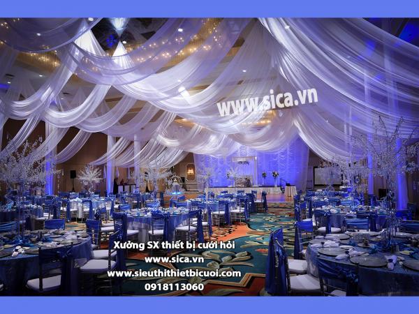 Không gian tiệc cưới nhà hàng sang trọng đẹp nhất