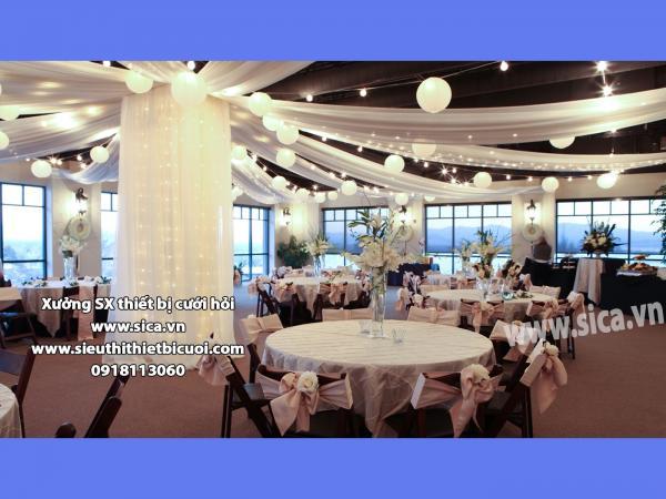 Không gian tiệc cưới nhà hàng sang trọng