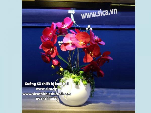 Bình hoa để bàn phòng khách