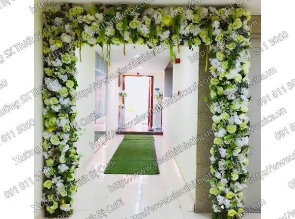 Cổng hoa xanh cốm