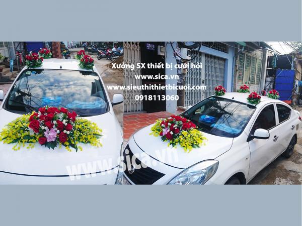 Hoa trang trí xe rước dâu mới nhất