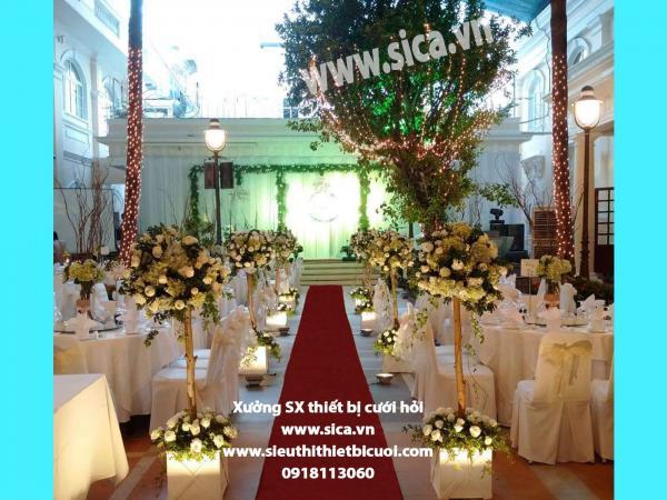 Thiết kế không gian sân khấu đám cưới mới dẹp
