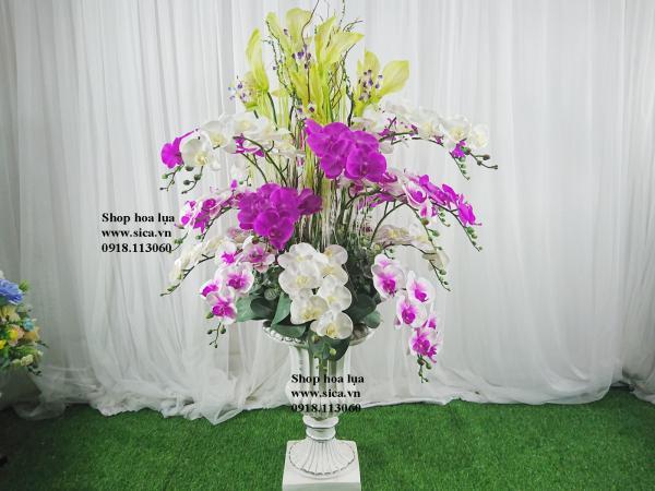 Bình hoa lan cao cấp lớn - bình composite