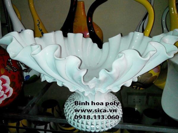 Bình hoa poly chiếc thuyền hoa