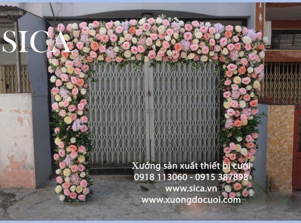Nơi tạo mẫu cổng hoa trang trí tiệc cưới giá rẻ