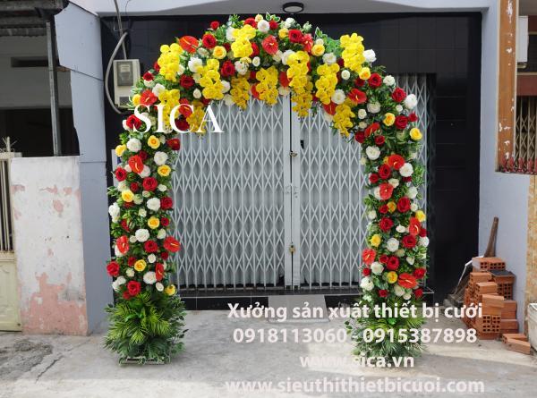Mẫu cổng cưới kết hoa lan mẫu mới nhất