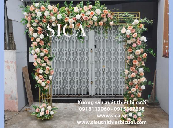 Cổng cưới hoa giả có tại sài gòn