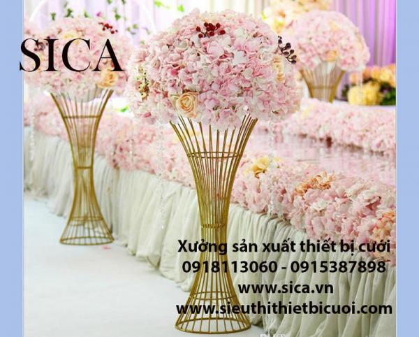 Chổ bán chân trụ hoa đám cưới