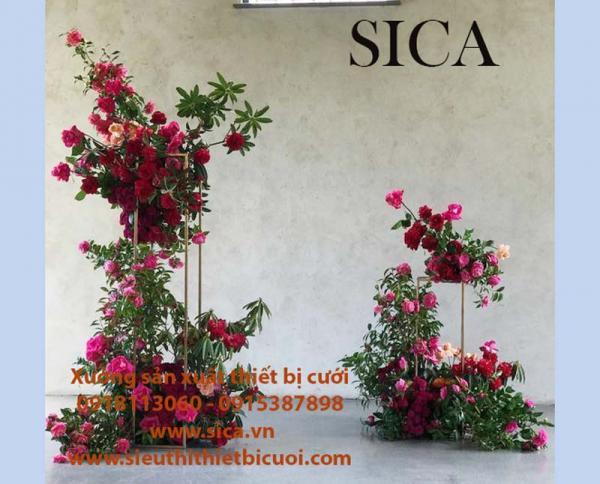 Xưởng bán chân trụ hoa trang trí cưới