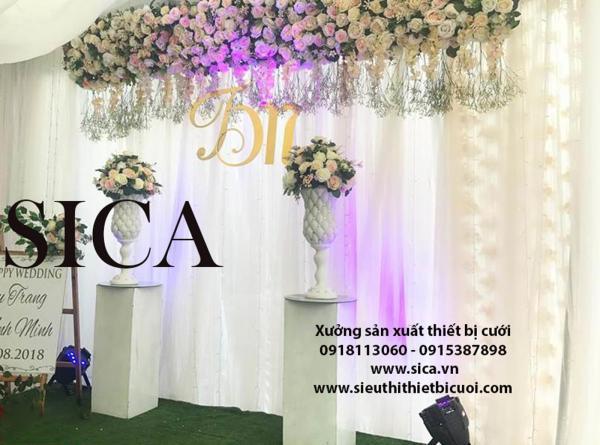 Giá bán trụ hoa trang trí nhà hàng tiệc cưới