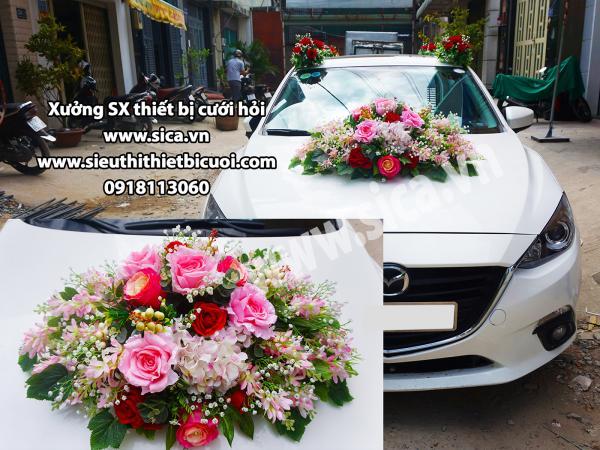 Nơi sản xuất hoa trang trí xe mới nhất