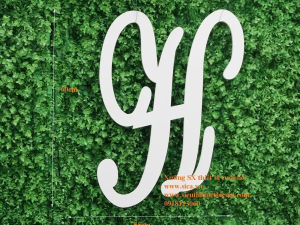 Bảng chữ cái viết tắt tên cô dâu chú rể Chữ H