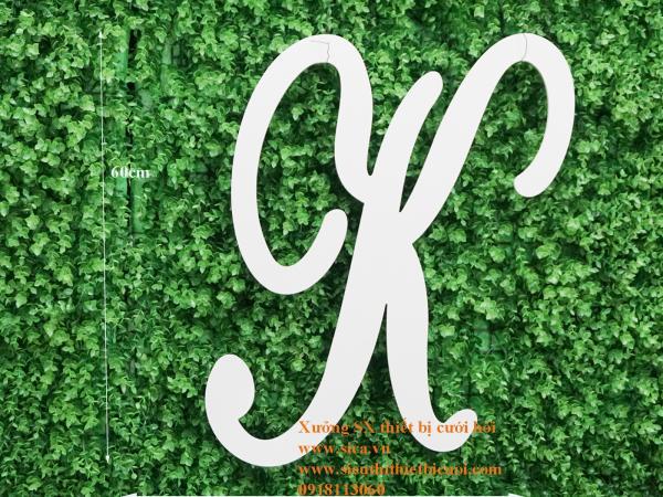 Bảng chữ cái viết tắt tên cô dâu chú rể Chữ K