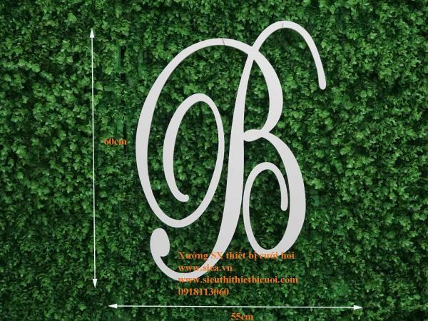 Bảng chữ cái viết tắt tên cô dâu chú rể Chữ B