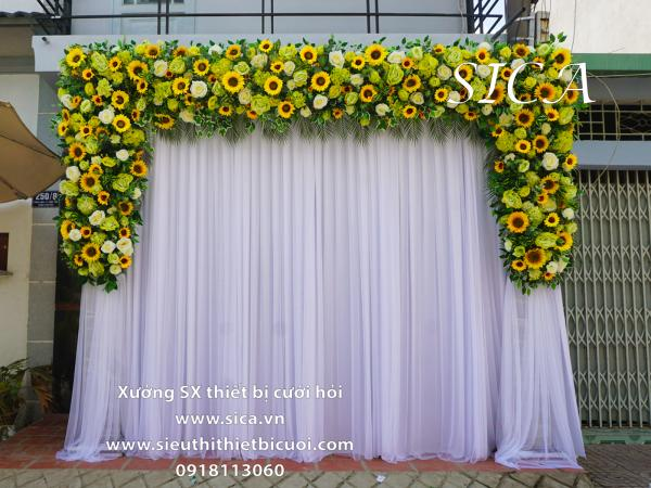 Cổng hoa đám cưới hoa hướng dương