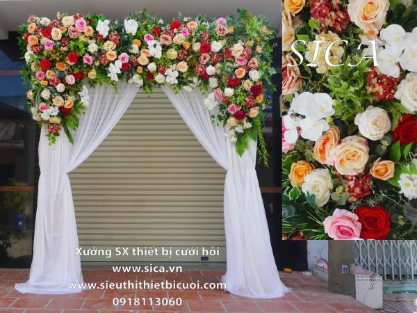 Cổng hoa đám cưới hoa hồng mới nhất