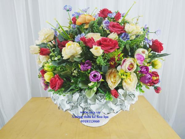 Binh hoa để bàn đẹp
