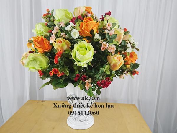 Binh hoa hồng để bàn trang trí đẹp