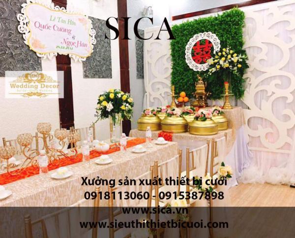 Bán rèm màn khăn bàn trang trí gia tiên đám cưới