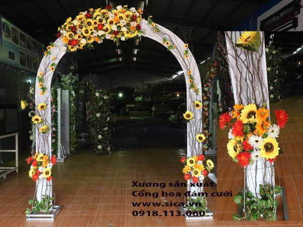 Cổng hoa cưới hướng dương sang trọng
