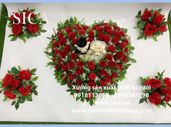 Kết hoa trang trí xe o6to, hoa giả, hoa lụa cao cấp