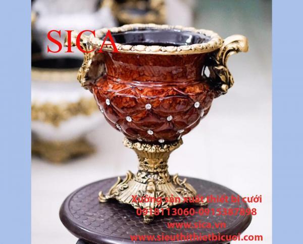 Bình hoa poly cổ điển rẻ đẹp