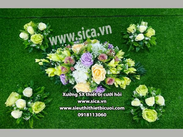Hoa đẹp trang trí cho xe cưới