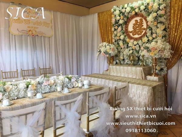 Giá bán thiết bi bàn thờ đám cưới