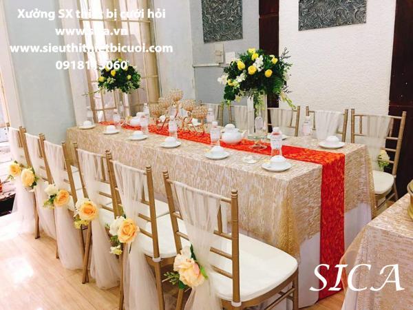 Bán bàn ghế trang trí gia tiên đám cưới