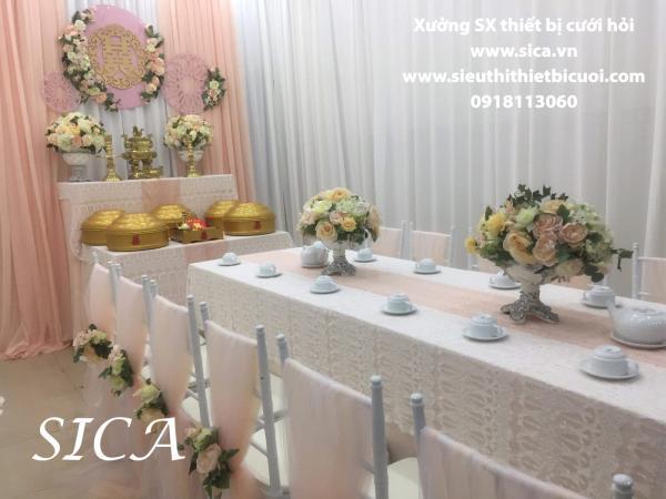 Chổ bán thiết bị trang trí bàn thờ đám cưới