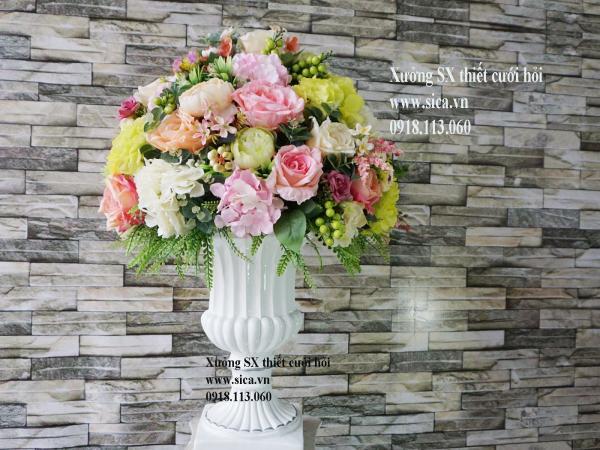 Cung cấp bình hoa trang trí đám cưới
