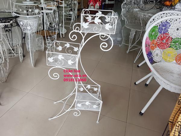 Cung cấp kệ hoa trang trí - trắng