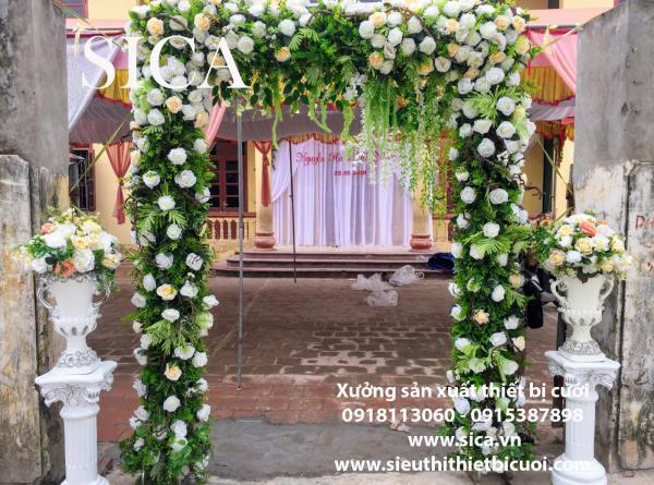 Cổng cưới hoa giả đẹp