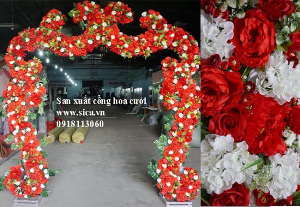 Cổng hoa đám cưới chử S