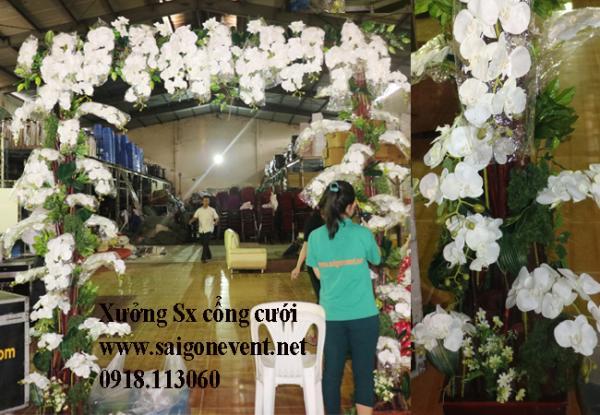Cổng cưới hoa lan cao cấp