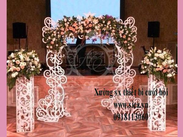 Cổng hoa cưới CNC mẫu mới