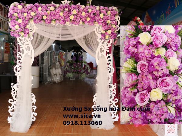 Cổng hoa cưới cắt CNC Pima hoa văn