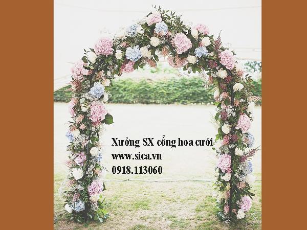 Cổng hoa đám cưới phong cách tự nhiên