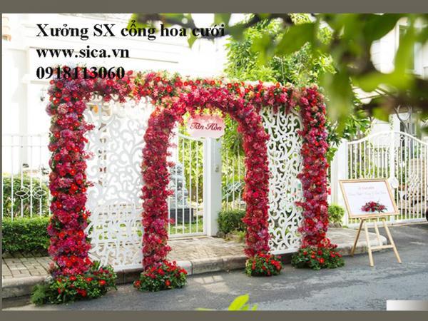 Xưởng SX cổng hoa đám cưới theo yêu cầu