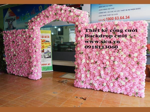 Thiết kế cổng cưới backdrop