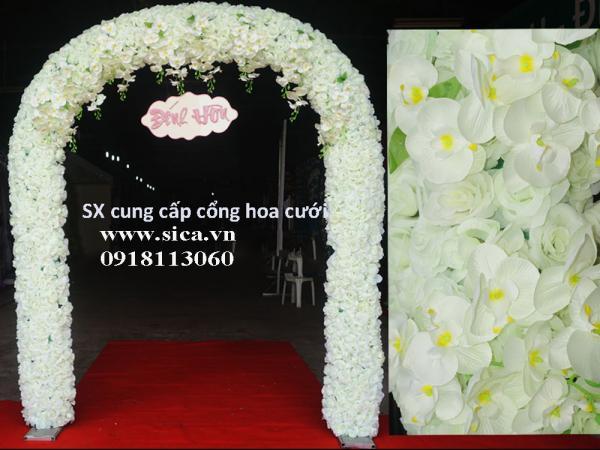 Cổng đám cưới hoa hồng trắng