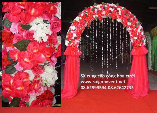 Cổng cưới hoa hồng